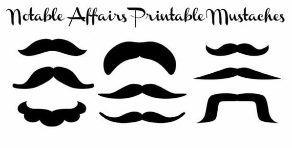 Unusual image pertaining to mustache printable
