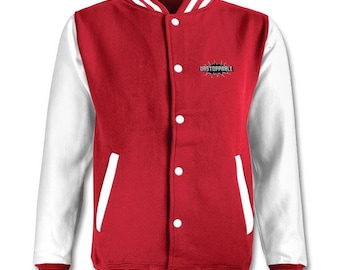Red Dmnd varsity jacket