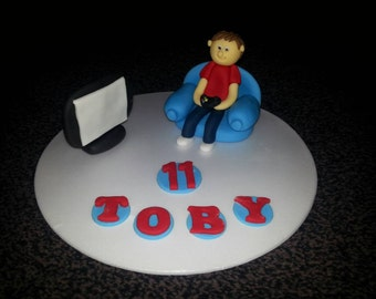 Edible xbox ps3 ps4 birthday cake topper decoration Personalised