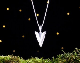 Sterling Silver Arrowhead - (Pendant or Necklace)