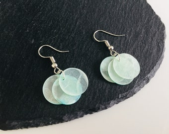 Real shell earrings , ocean jewellery , shell jewelry , circle earrings , beach jewellery , earrings , dangle earrings , shells