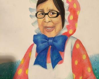 Custom Portrait in Oil Pastels