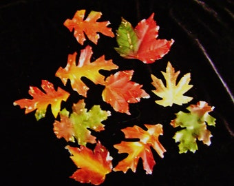 Autumn Leaf Guest Soaps, Apple Cinnamon Scented, Hand Soap, Handcrafted, Glycerin Soap, Mystic Creations