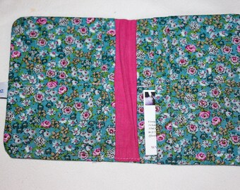 Pink floral cotton lined with cotton wallet