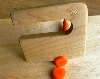Safe wooden children's knife, ''Chop Chop'' maple wood, vegetable and fruit cutter, wooden chopper, knife for kids, kitchen toy.