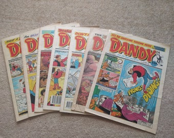 Vintage Dandy comic from the 1980's