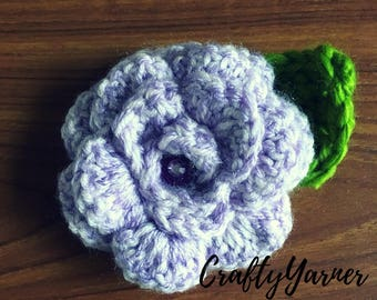 Crochet flower brooches/wedding favours/rustic/rose bunting