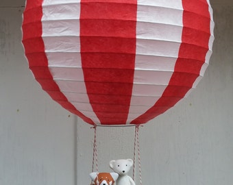 Walter the Red Panda and Jack the Polar Bear's Hot Air Balloon Mobile by SBMathieu