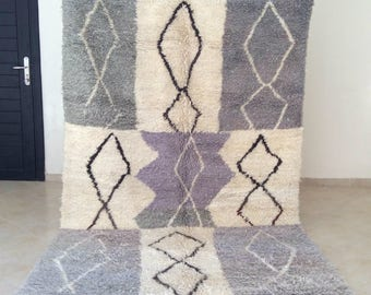 Beni Ourain Rug Handmade 100% Natural Wool, 8.9 ft x 5.7 ft, Berber Beauty Beni Ourain Teppich from Morocco