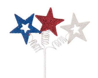 Star Pick, Star Spray, Floral pick, floral sprays , star picks, 4th of july picks, 4th of july sprays, 4th of july wreath decor, wreaths