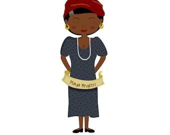 Feminist Plush Maya Angelou
