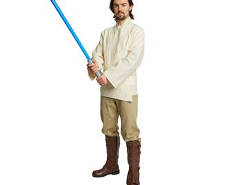 Jedi Costume Tunic Shirt Adult Beige
