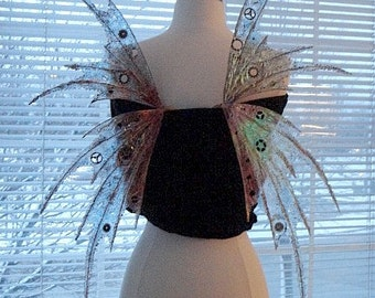 Steampunk Fairy Wings-Iridescent-OOAK-Adult Size (Made to Order by Request)