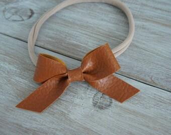 Leather Schoolgirlbow Headband
