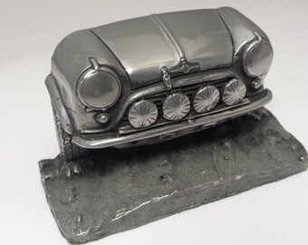 Willys jeep pewter effect car pen holder business card mini cooper works rally pewter effect car pen holder business card holder for desk work etc colourmoves