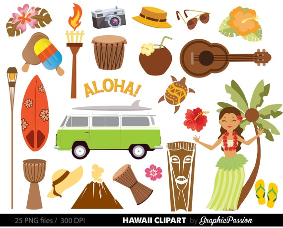 hawaiian luau party clip art luau clipart luau clip art rh etsy com hawaiian clip art images of tribal tattoo clip art of hawaiian images