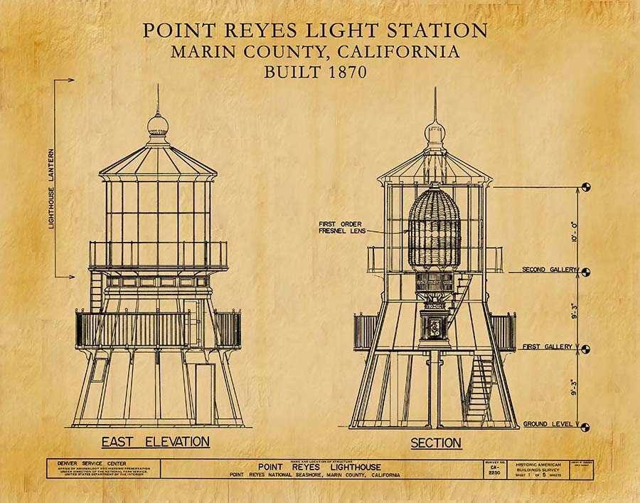 1870 point reyes lighthouse drawing point reyes light station art 1870 point reyes lighthouse drawing point reyes light station art print nautical wall art marine art ships beacon marin county malvernweather Images