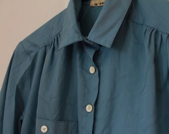 1970's Barely Blue Collar Size Small