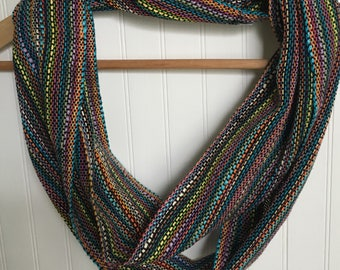 Black Bamboo Infinity Scarf Handwoven