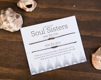 Soul Sisters Matching Bracelets, Best Friend Gift, Sister Gift, Sister bracelet, Friendship Bracelet, set of two bracelets, easy friend gift