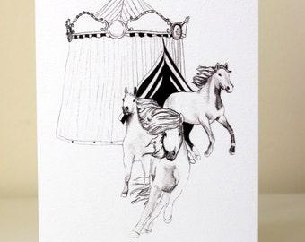 Circus horses - Life's a Circus, Card