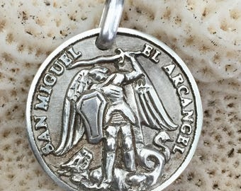 Saint Michael the Archangel. Sterling silver.