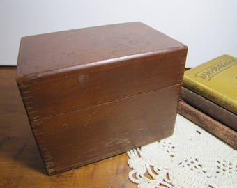 Merchants  Box Company - Wooden Recipe Box