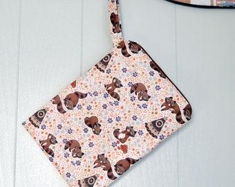 Raccoons and Teepees Wet Bag~ Ocean ~ PUL Bag, Swim, Beach, Travel, Summer, Child, Baby