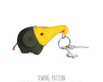 Diy Pattern, Elephant Sewing Pattern & Tutorial, Plush Toy Pattern, PDF INSTANT DOWNLOAD, Sewing Diy, Key chain, Pendant, Pincushion