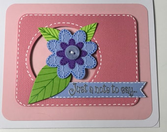 Handcrafted Button Detail Multipurpose Card