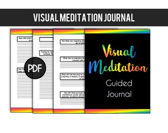 Guided Journal Prompts for Meditation Spirit Guide Meditation Angel Messages Empaths Lightworkers // Printable Meditation Journal Inserts