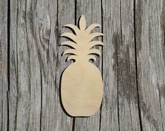 Pineapple  Shape - Multiple Sizes  - Laser Cut Unfinished Wood Cutout Shapes