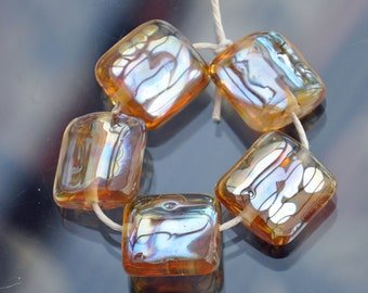 Lampwork Glass Pillow Beads