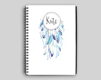 Dreamcatcher Notebook ~ Personalized Dreamcatcher Journal ~ Dreamcatcher Diary ~ Name Notebook ~ Journal ~ Diary ~ Dreamcatcher