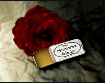 Botanical Perfume Primer, a scent extending fixative balm composed of all natural essential oils
