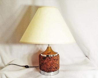 Marvelous Table Lamp Laurel Cork And Chrome Vintage Table Lamp Or Desk Lamp, Sleek  Mid Century
