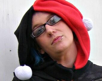 Harley Quinn  costume Cosplay fleece hoodie HAT Arkham Winter Christmas