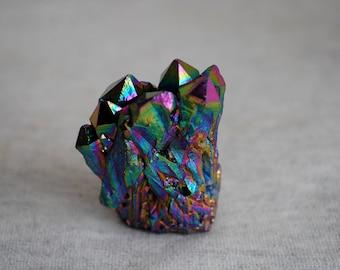 Titanium Aura Quartz Crystals, Healing Crystals