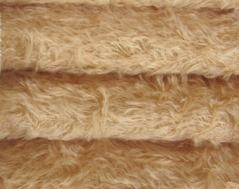 Quality 325S/C - Mohair - 1/3 yard in Intercal's Color 533S-Wheat. A German Mohair Fur Fabric for Teddy Bear Making, Arts & Crafts