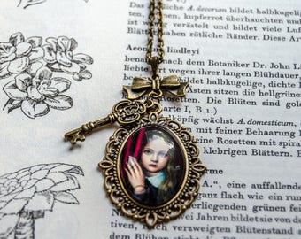 Romantic vintage necklace/Steampunk necklace