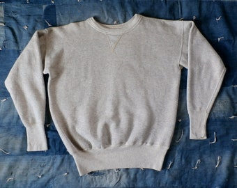 Jahrgang 1950 Heather hellgrau einzelne V-Stich Sweatshirt (L)