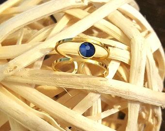 Swarovski crystal stainless steel ring