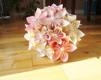 Origami Kusudama Paper Flower Bouquet - Kusudama bouquet, paper flower bouquet, bridal bouquet, origami bouquet, paper flower weddings