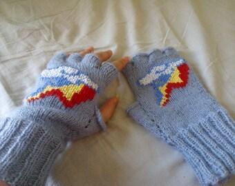 Rainbow Dash fingerless mitts