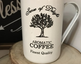 Blanc ferme émail tasse à café réparateur supérieur de style