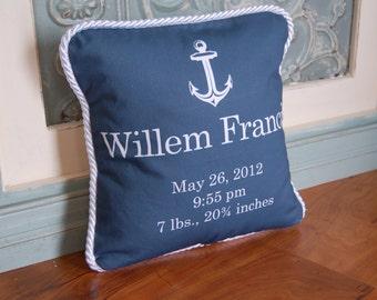 Nautical Baby Boy Pillow