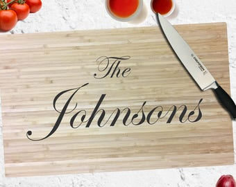 Custom Engraved Cutting Board - Personalized - Wedding - Engagement - Gift - Anniversary