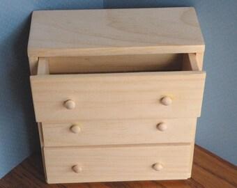 Barbie Wooden Bureau / Dresser 1 to 6 Scale