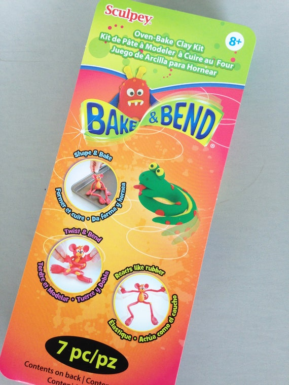 Sculpey Oven-Bake & Bend Clay Kit is a perfect stocking stuffer make fun animal clay figuresto bend, twist, stretch it even acts like rubber