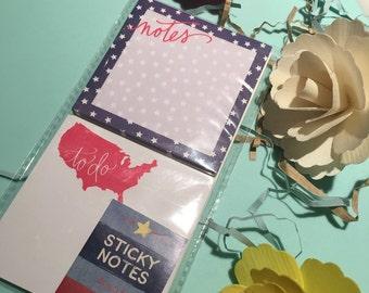 4th July Sticky Notes
